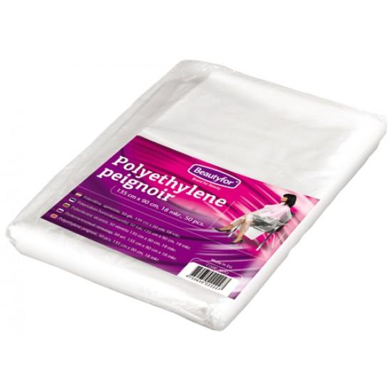 Disposable Polyethylene Peignoir Covers for Hairdressing (50)