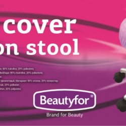 Beautyfor Velor cover for salon stool violet