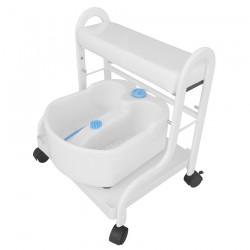 Pedicure trolley with bath SPA-103 white