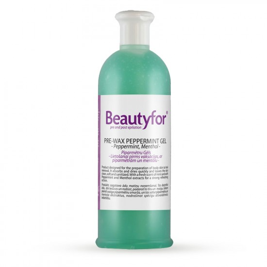 Beautyfor Pre-Wax Peppermint Gel with Menthol 500ml