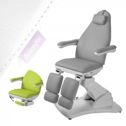 Podiatry chair 2245A with 3 motors grey