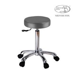 Silver Fox Flat round stool 1023A grey