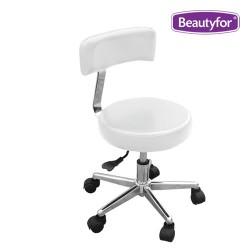 Salon stool SPA-109 white