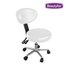 Salon stool CH-810B white