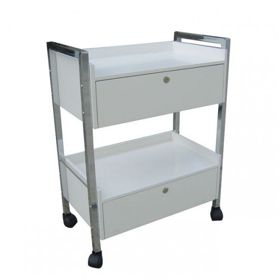 Beauty salon trolley with 2 drawers CH-5013