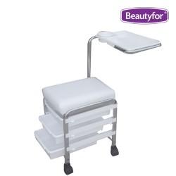 """Salon seat for pedicure & manicure """"CH-5005"""" (White)"""