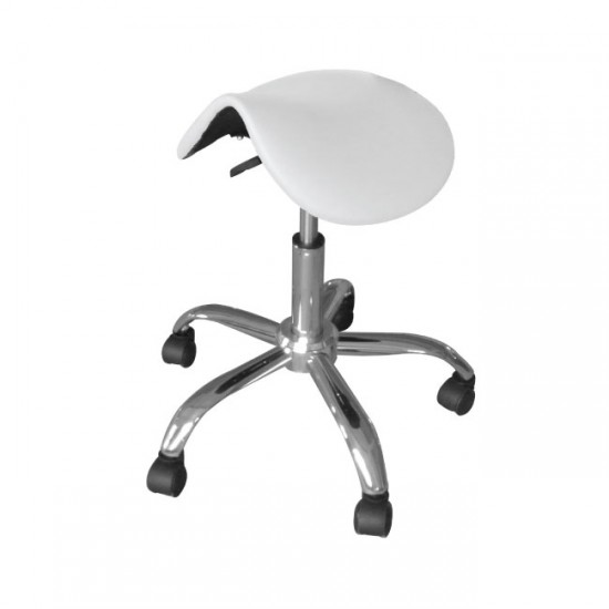 Beautician Saddle Stool white
