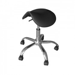 Beautician Saddle Stool black