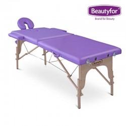 Beautyfor Portable Wooden Massage Table FMA201A purple