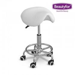 Beautyfor Salon Saddle Stool FM004-7 white