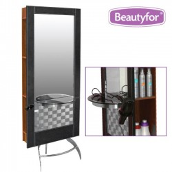 Salon Styling Unit Mirror 132B Black