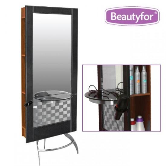 Salon Styling Unit Mirror 132B Black