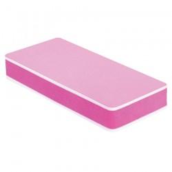Nail Polish Buffer Sandwich 400/3000 Grit, Pink