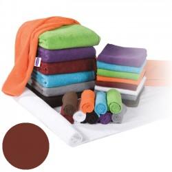 Махровое полотенцо коричневого цвета 30x50см