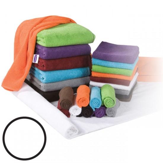 Махровое полотенцо белого цвета 50x90см